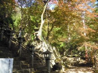 大山寺階段下191115