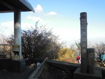 大山山頂191115