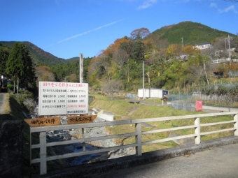 橋を渡って登山道に191120