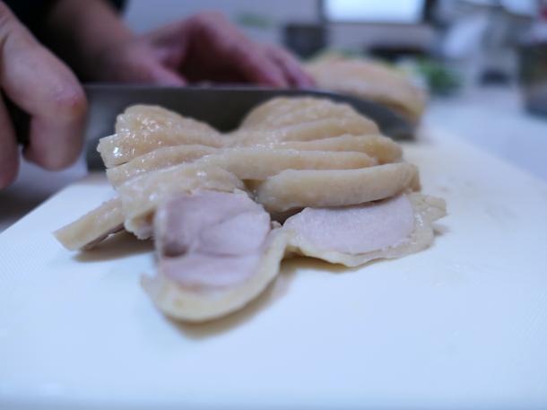 鶏肉カット
