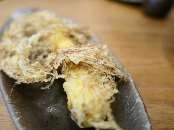 コーンの天ぷら