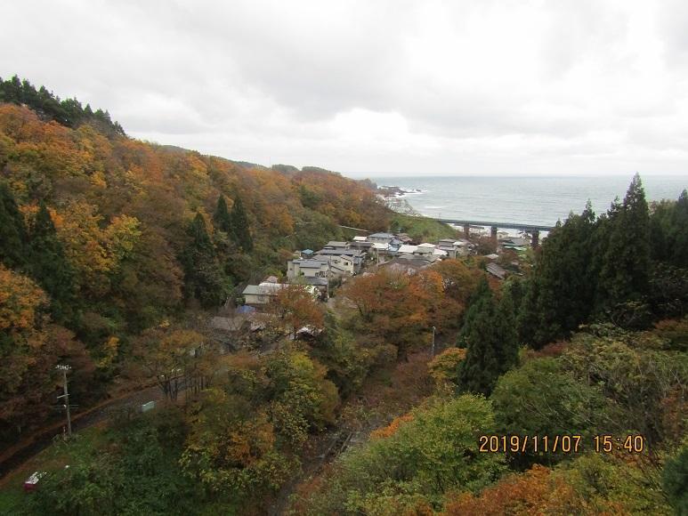 小入川鉄橋。紅葉1