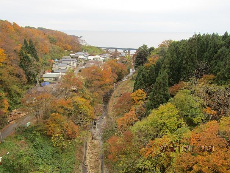 小入川鉄橋、紅葉10