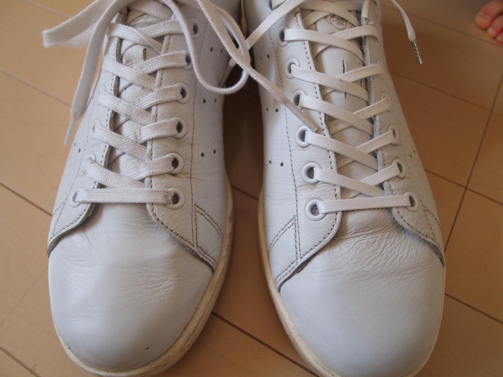 アディダス_スタンスミス靴紐交換3