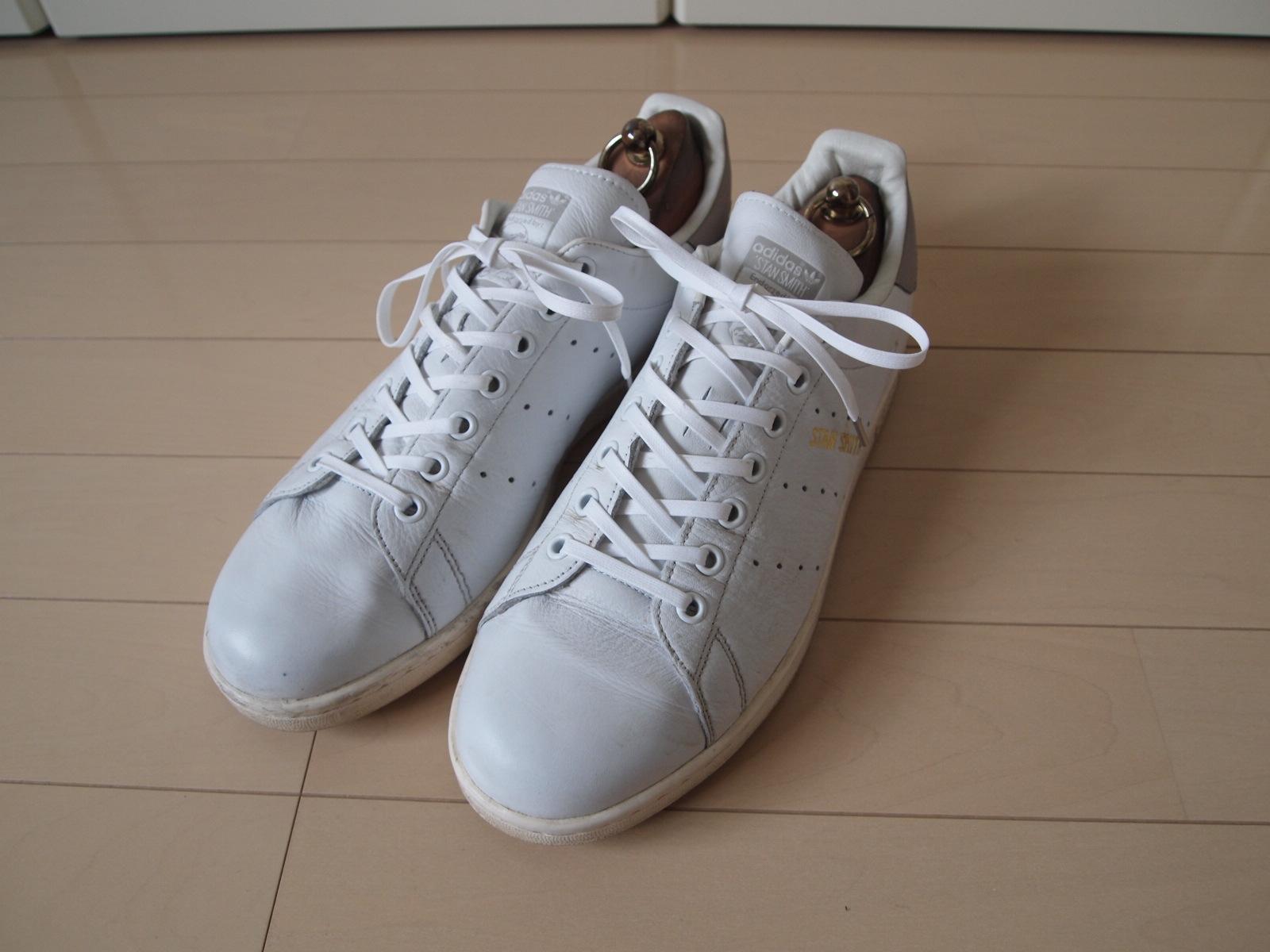 アディダス_スタンスミス靴紐交換6