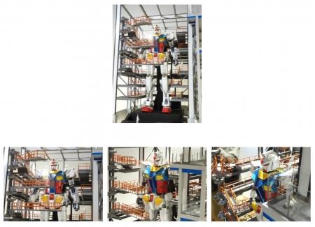 「GUNDAM FACTORY YOKOHAMA 実物大ガンダム立像」の30分の1模型