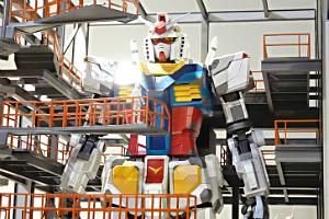 「GUNDAM FACTORY YOKOHAMA 実物大ガンダム立像」の30分の1模型t