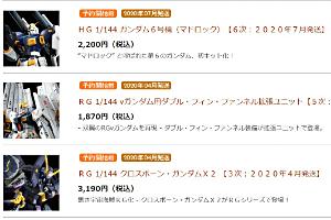 「HG ガンダム4号機 【2次:2020年7月発送】」など12点 130(木)11時より受注開始!t