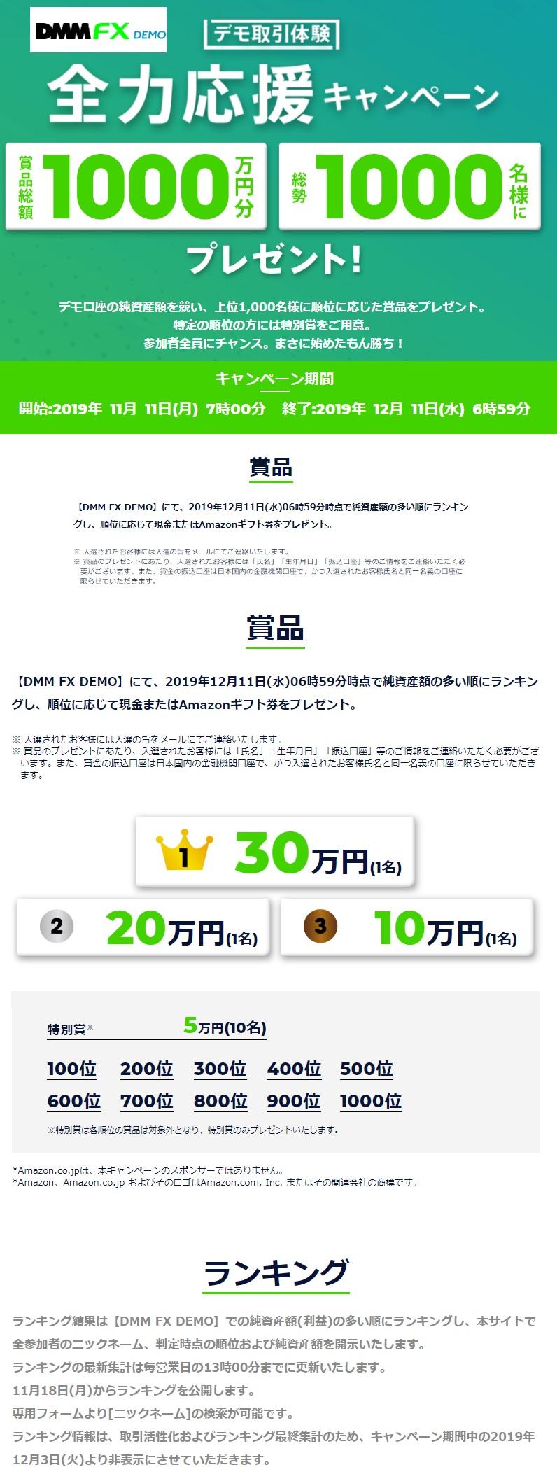 dmmfx demo キャンペーン 1000万円