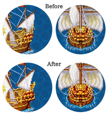 ガレオン船・新旧比較図