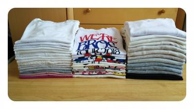 Tシャツを畳む 旭川整理収納アドバイザー佐々木亜弥 はぴごら 服の片づけ