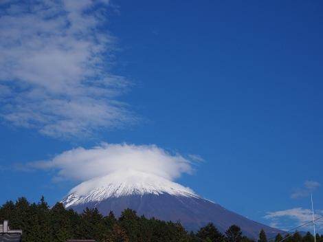 笠雲富士山