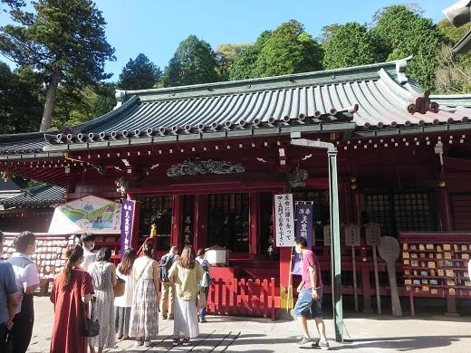 箱根神社は混んでいた