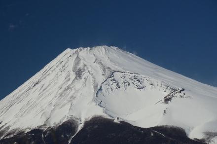 越前岳平坦地から富士山4