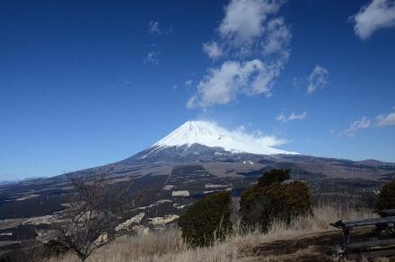越前岳馬の背見晴台から富士山1