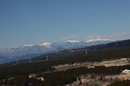 越前岳登山道から南アルプスの展望