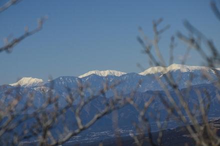 越前岳頂上から南アルプス1