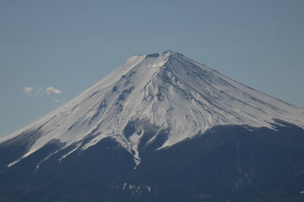 三ツ峠小屋の前から富士山3