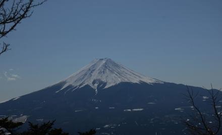 三ツ峠頂上から富士山3