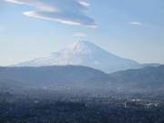 弘法山公園展望台からの富士山