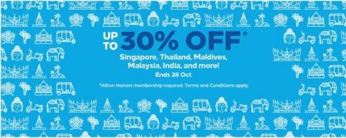 ヒルトン・オナーズ 東南アジアおよびインドを対象に最大30%OFFセール