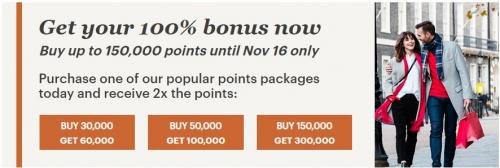 IHGリワードクラブがポイント購入で100%ボーナスポイントキャンペーン