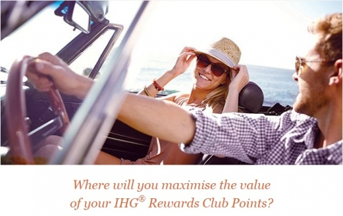IHGリワードクラブで日本、オーストラリア、ニュージーランド10000ポイントから宿泊できるポイントブレイク
