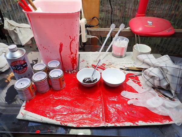 カシューの塗装