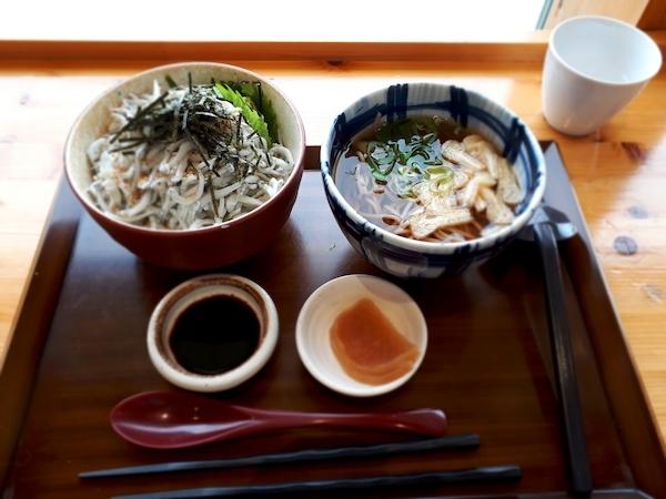 釜揚げシラス丼+蕎麦セット