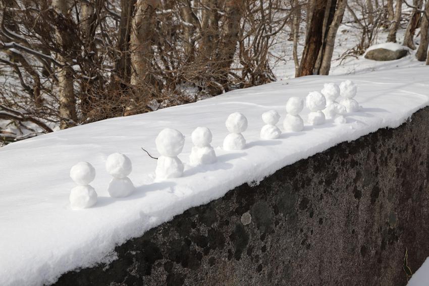 20191222五葉山の畳石に居た妖精