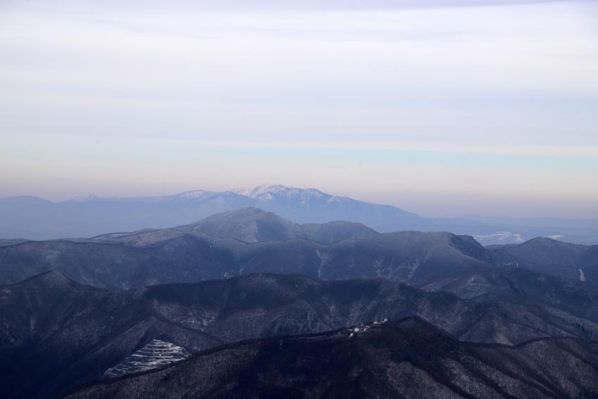 20191222五葉山山頂から見た早池峰山