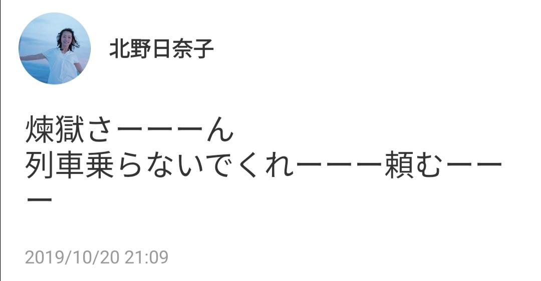 北野日奈子755「煉獄さーーーん、列車乗らないでくれーーー頼むーーー」