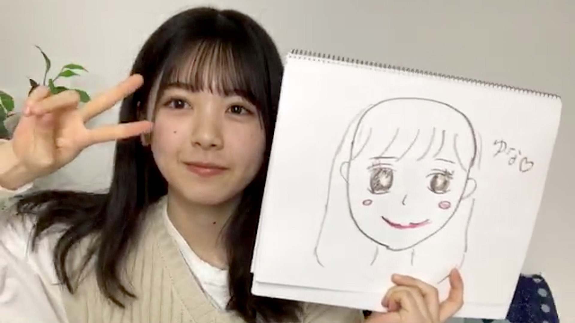 筒井あやめが描いた柴田柚菜の似顔絵