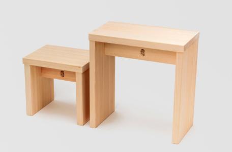 ヒノキのお風呂椅子1