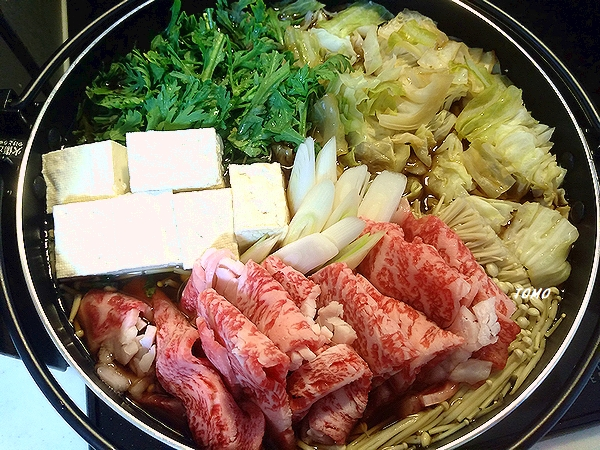 上州和牛のすき焼き