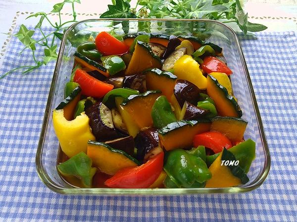夏野菜の焼き付け