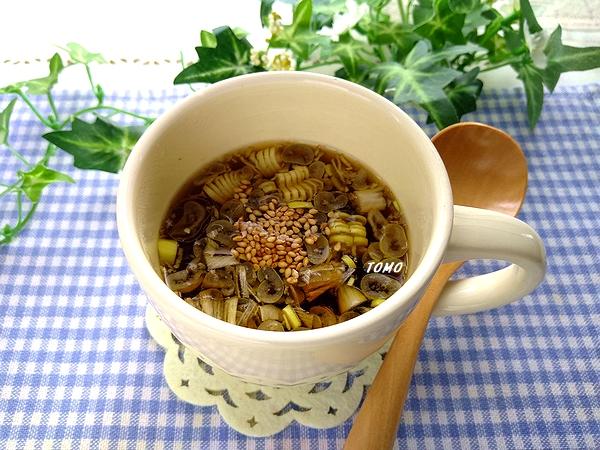 海苔の佃煮の韓国風スープ2