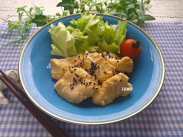 鶏むね肉の味噌マヨニンニク生姜炒め