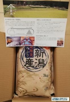 前澤化成工業 新潟米3kg 03 201909