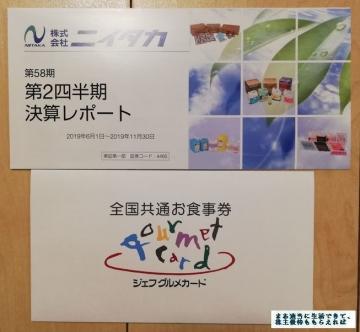 ニイタカ ジェフグルメカード 201911