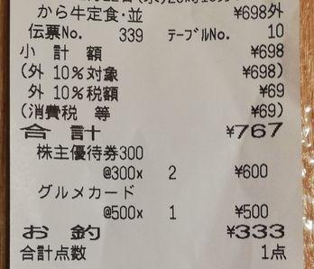 吉野家 から揚げ牛皿定食04 2002 201908