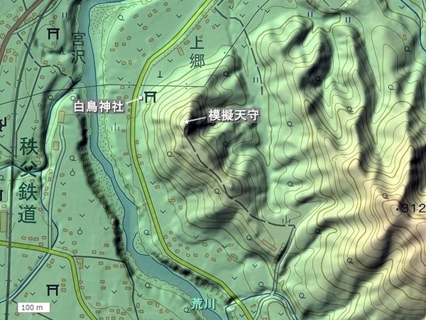 天神山城_地形図
