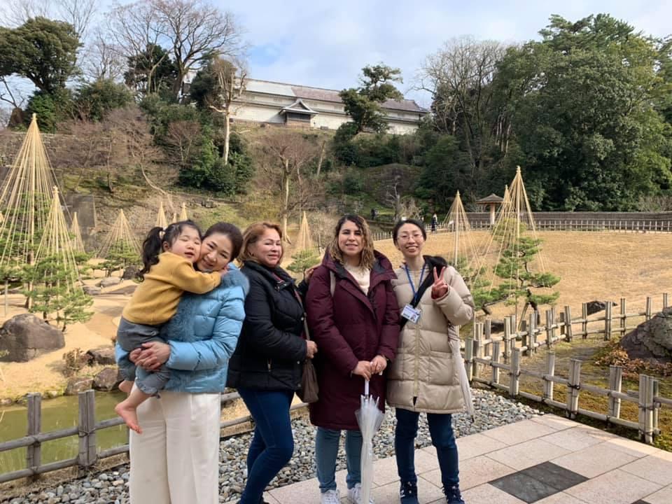 海外のお客様と金沢観光