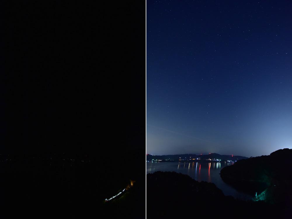 長崎夜景合成