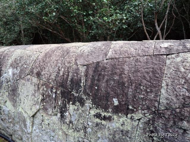石塀 上部は丸い
