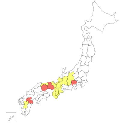 行ったことのある土地 MAP-1