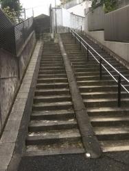 お化け階段 ゼームス坂散策1
