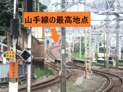 山手線の最高地点1新宿駅記事1