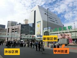 渋谷区側から見た新宿駅 新宿駅構内記事2