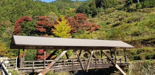 紅葉の帯江橋